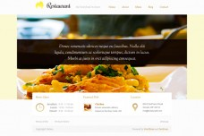 Restaurant WordPress Theme Preview from DevPress