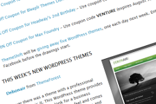 New Themes, News & Coupons