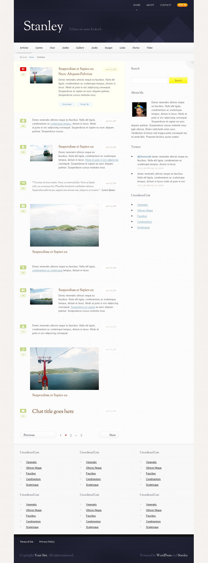 Stanley WordPress Theme Preview