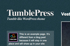 TumblePress WordPress Tumblog Theme
