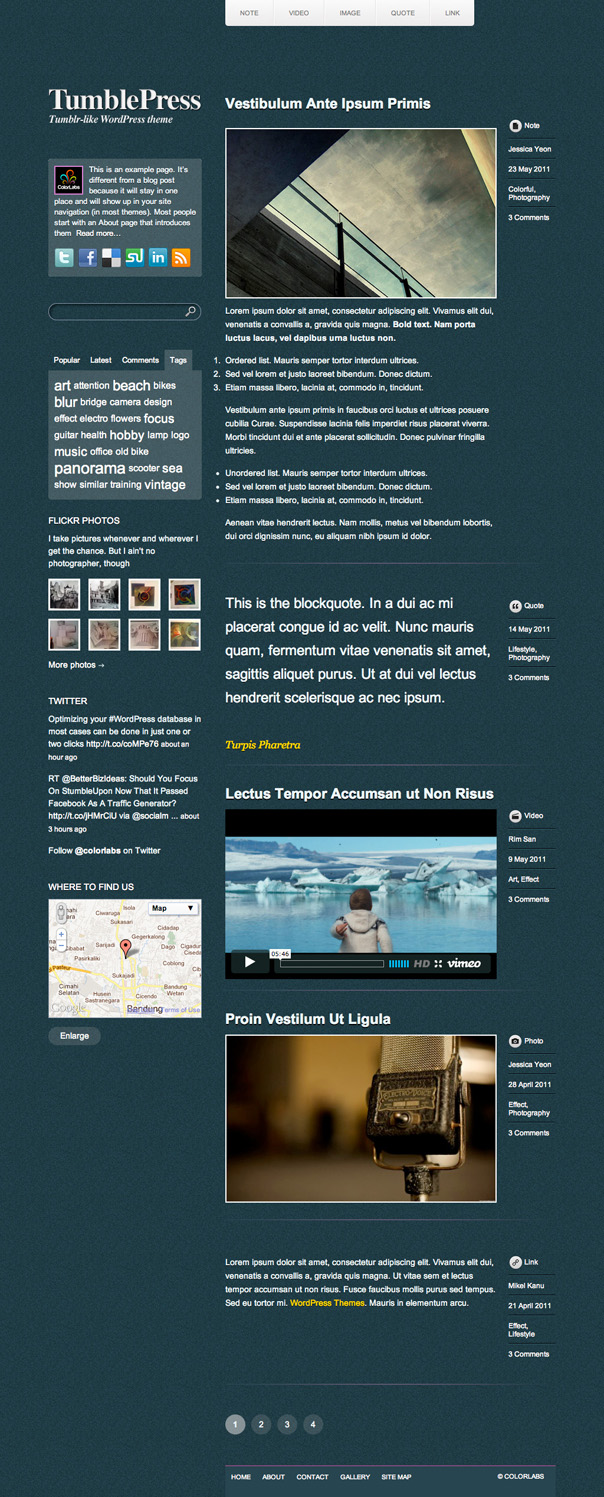 TumblePress Free Tumblog WordPress Theme