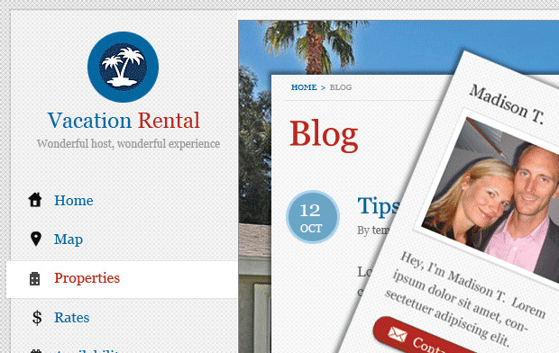 Vacation Home Rental WordPress Theme