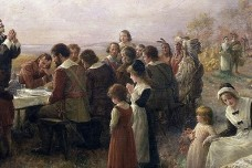 The First Thanksgiving at Plymouth By Jennie A. Brownscombe (1914)