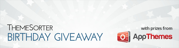 ThemeSorter Birthday Giveaway with Prizes from AppThemes
