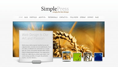 SimplePress WordPress Theme - White Color Scheme (Medium Screenshot)