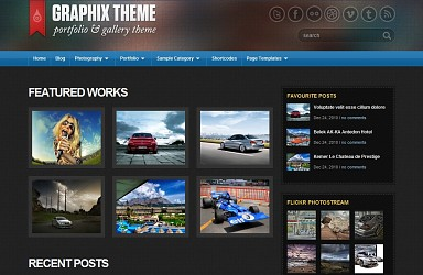Graphix WordPress Theme - Blue Color Scheme (Medium Screenshot)