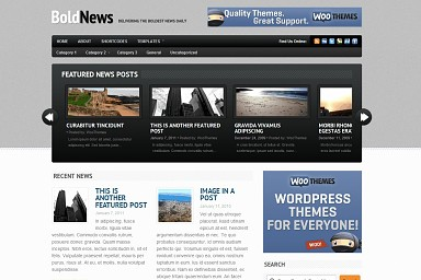 BoldNews WordPress Theme - Gray & Black Color Scheme (Medium Screenshot)