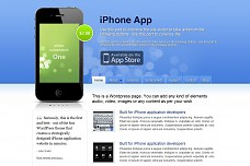 iPhone App WordPress Theme from Elegant Themes