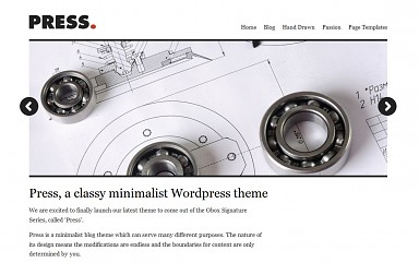 Press WordPress Theme - White Color Scheme (Medium Screenshot)