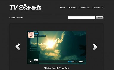 TV Elements WordPress Theme - Gray Color Scheme (Medium Screenshot)
