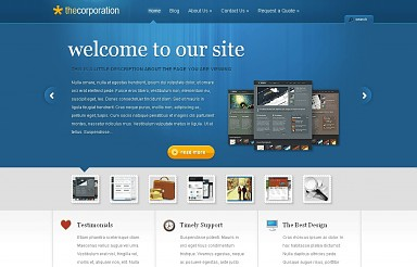 TheCorporation WordPress Theme - Blue Color Scheme (Medium Screenshot)