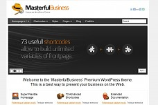Masterful Business WordPress Theme from ThemeForest
