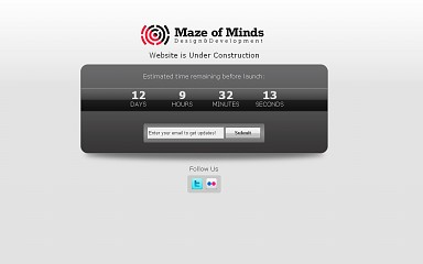 MofM Coming Soon WordPress Theme - Gray Color Scheme (Medium Screenshot)