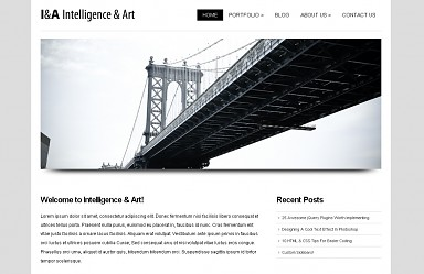 Intelligence & Art WordPress Theme - White Color Scheme (Medium Screenshot)