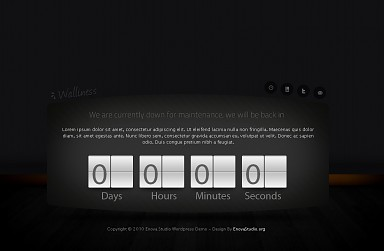 Walliness WordPress Theme - Black Color Scheme (Medium Screenshot)