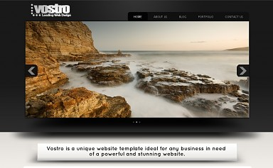 Vostro WordPress Theme - Black & White Color Scheme (Medium Screenshot)
