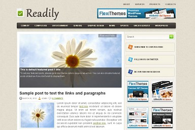 Readily WordPress Theme - Cream Color Scheme (Medium Screenshot)