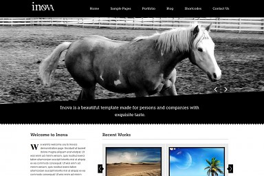 Inova WordPress Theme - Black Color Scheme (Medium Screenshot)