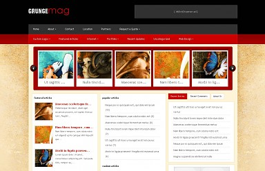 GrungeMag WordPress Theme - Red Color Scheme (Medium Screenshot)