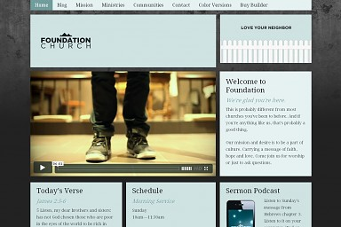 Foundation WordPress Theme - Light Blue Color Scheme (Medium Screenshot)