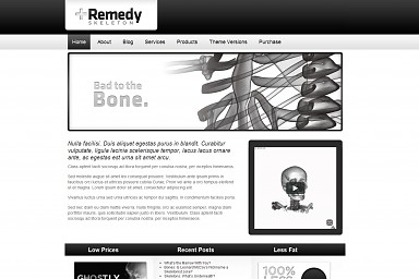 Remedy Skeleton WordPress Theme - Gray Color Scheme (Medium Screenshot)