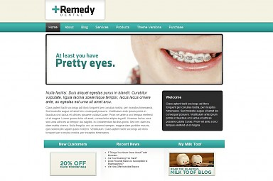 Remedy Dental WordPress Theme - Teal Color Scheme (Medium Screenshot)