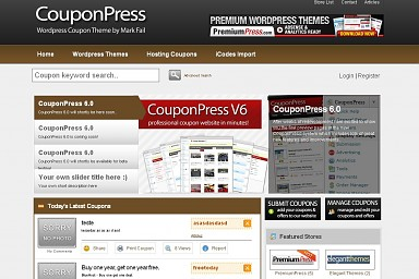 CouponPress WordPress Theme - Brown Color Scheme (Medium Screenshot)