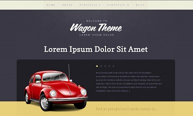 Wagon WordPress Theme - Purple Color Scheme (Medium Screenshot)