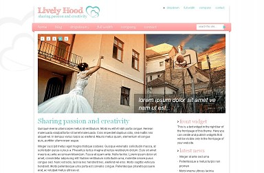 Lively Hood WordPress Theme - White & Pink Color Scheme (Medium Screenshot)