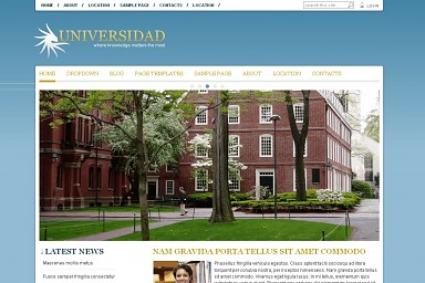 Universidad WordPress Theme - Blue Color Scheme (Medium Screenshot)