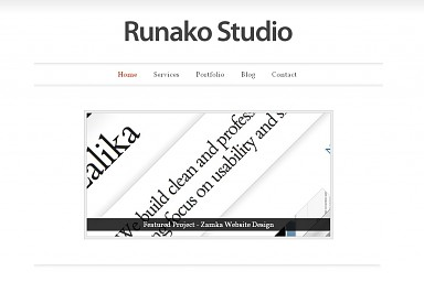 Runako WordPress Theme - White Color Scheme (Medium Screenshot)