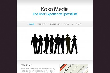 Koko WordPress Theme - Gray/Blue Color Scheme (Medium Screenshot)