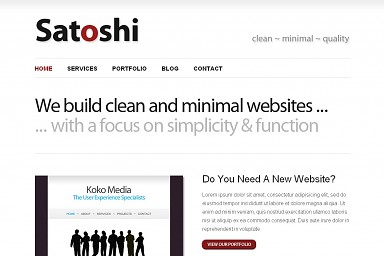 Satoshi WordPress Theme - White Color Scheme (Medium Screenshot)