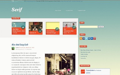 Serif WordPress Theme - Teal Color Scheme (Medium Screenshot)