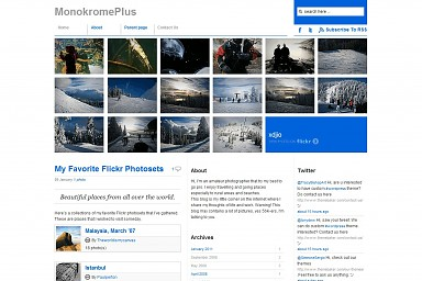 MonokromePlus WordPress Theme - Blue Color Scheme (Medium Screenshot)