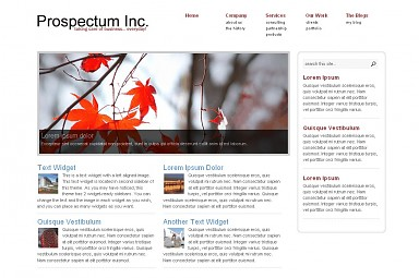 Prospectum WordPress Theme - White Color Scheme (Medium Screenshot)