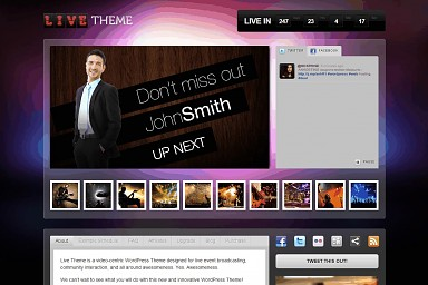Live Theme WordPress Theme - Purple Color Scheme (Medium Screenshot)
