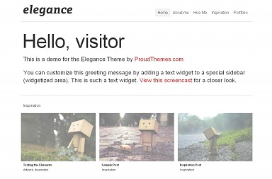 Elegance WordPress Theme - White Color Scheme (Medium Screenshot)