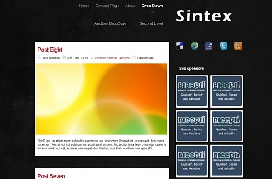 Sintex WordPress Theme - Black Color Scheme (Medium Screenshot)