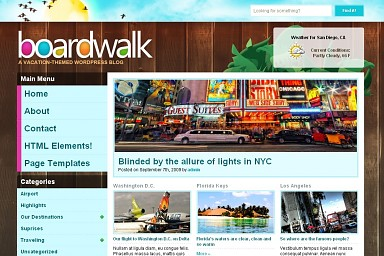 Boardwalk WordPress Theme - Brown Color Scheme (Medium Screenshot)
