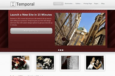 Temporal WordPress Theme - Red Color Scheme (Medium Screenshot)