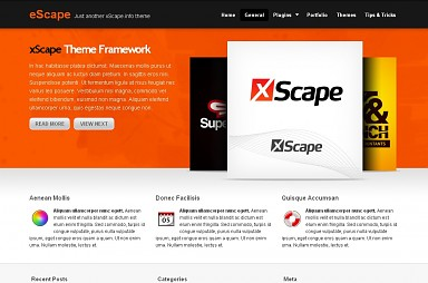 eSpace WordPress Theme - Orange Color Scheme (Medium Screenshot)
