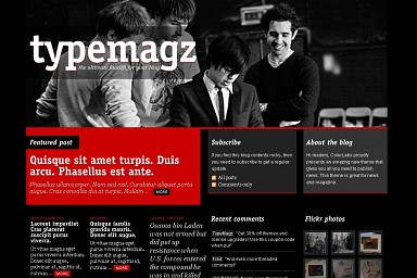 TypeMagz WordPress Theme - Black & Red Color Scheme (Medium Screenshot)
