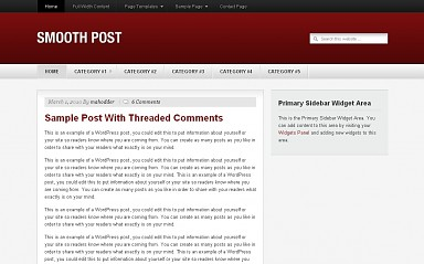 Smooth Post WordPress Theme - Red Color Scheme (Medium Screenshot)