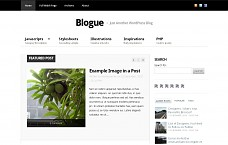 Blogue WordPress Theme from Themedy