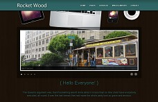 Rocket Wood WordPress Theme from WPCrown