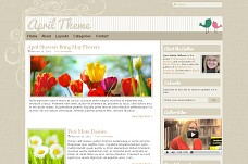 April WordPress Theme from StudioPress