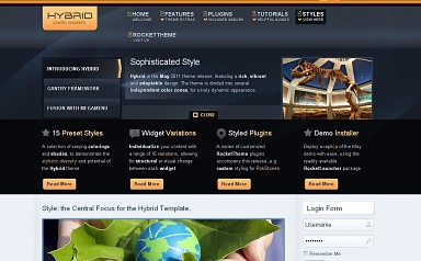 Hybrid WordPress Theme - Blue Color Scheme (Medium Screenshot)