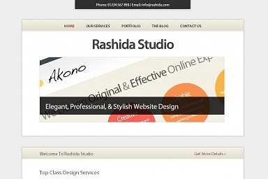 Rashida WordPress Theme - Cream Color Scheme (Medium Screenshot)