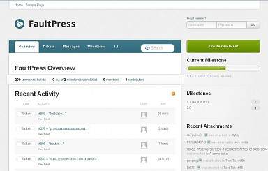 FaultPress WordPress Theme - Gray/Blue Color Scheme (Medium Screenshot)
